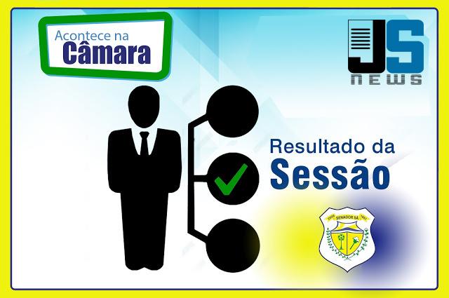 8ª sessão ordinária do legislativo de Senador Sá - Em momento após eleições parlamentares agradecem votos recebidos.