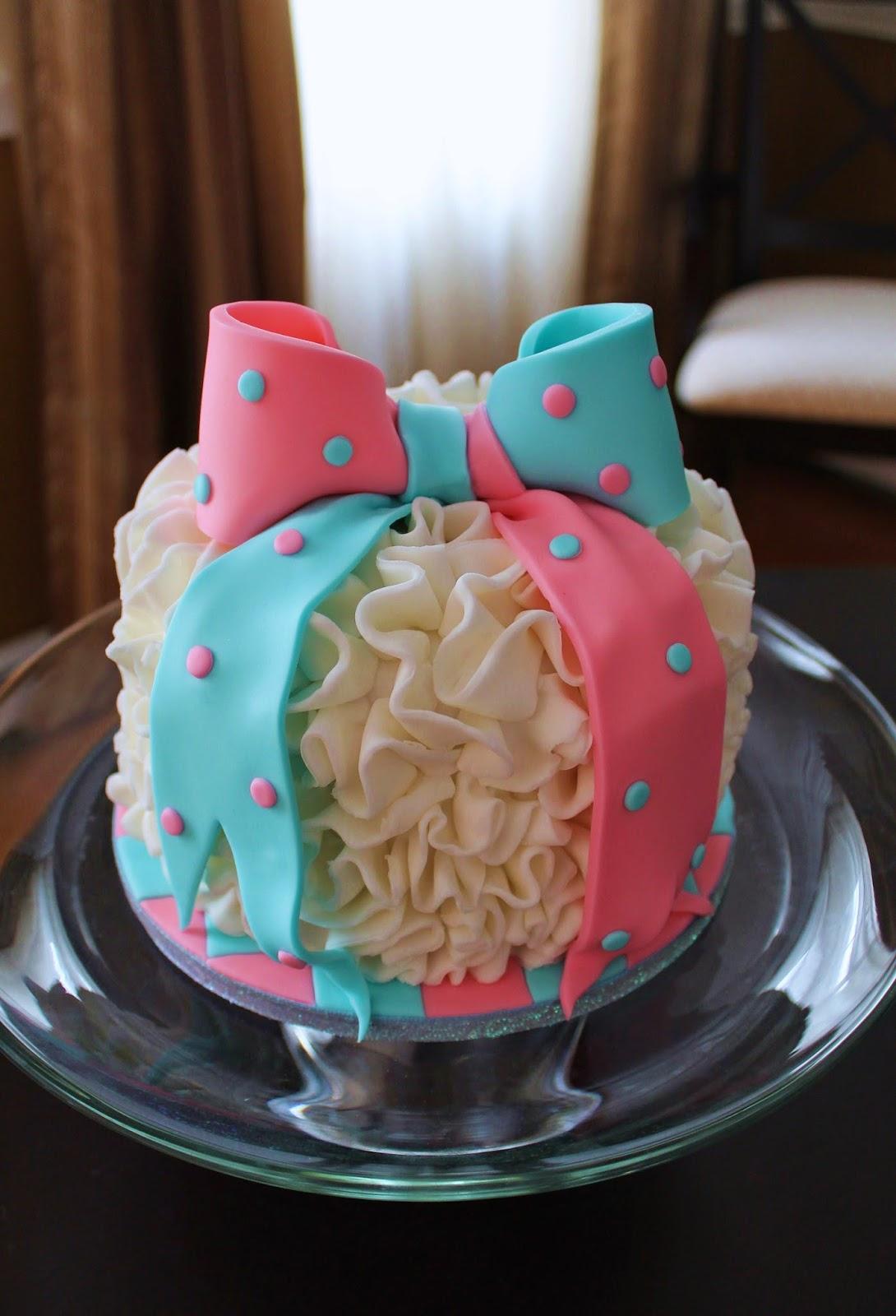 Creative Cakes By Lynn Ruffle Gender Reveal Cake