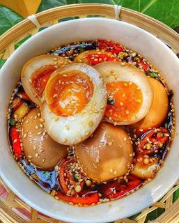 Trứng Gà Ngâm Tương