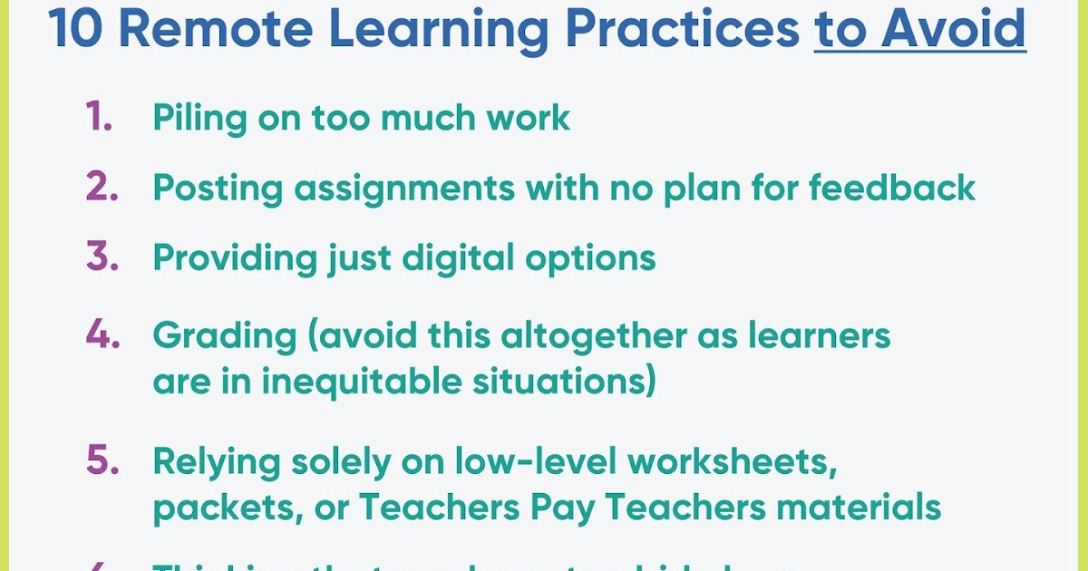 10 Remote Learning Practices to Avoid