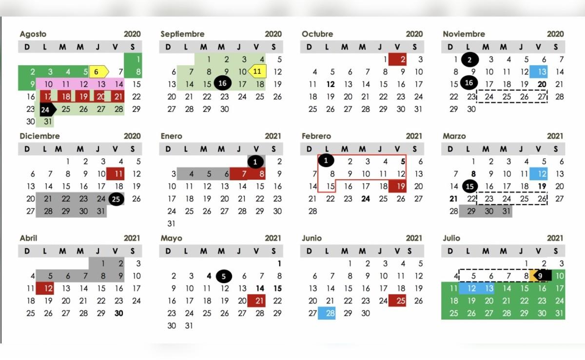 Calendario Escolar SEP 2020-2021