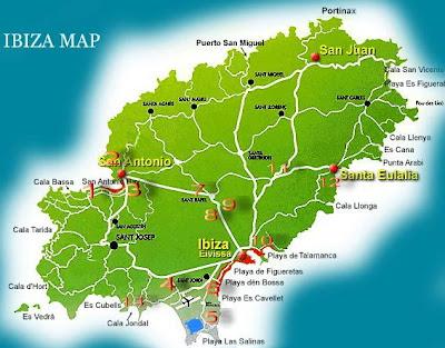 Ibiza Club Map All you need to your Ibiza trip vacation: Ibiza Clubs Map & Info