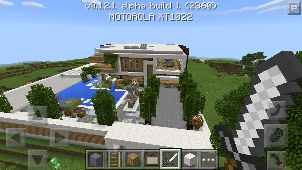 Mapa Casa Moderna Equipe Mcpe