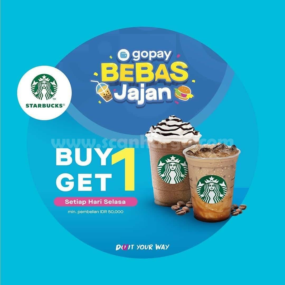 Promo Starbucks Beli 1 Gratis 1 Bayar Pakai GOPAY