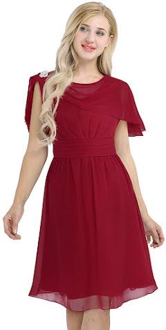 Best Knee Length Chiffon Bridesmaid Dresses