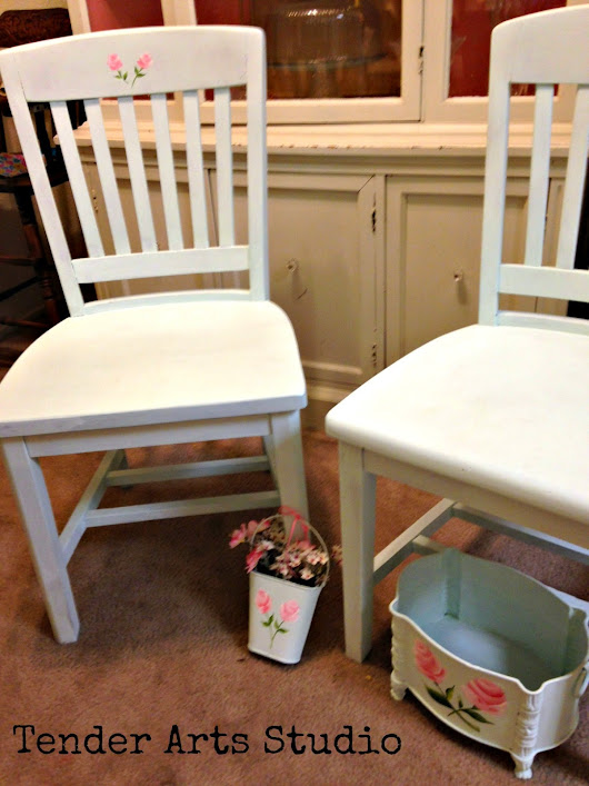 Shabby Chic and Girly Aqua Chairs