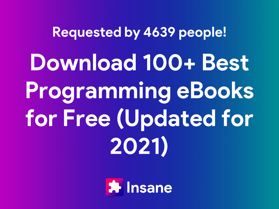 Download PDF for Free - 100+ Best Coding eBooks For Programmers