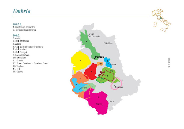 wine map of Umbria