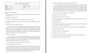 Soal ulangan harian kelas 5 SD/MI Tema 5