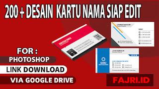 Download 200 Desain Kartu Nama Gratis