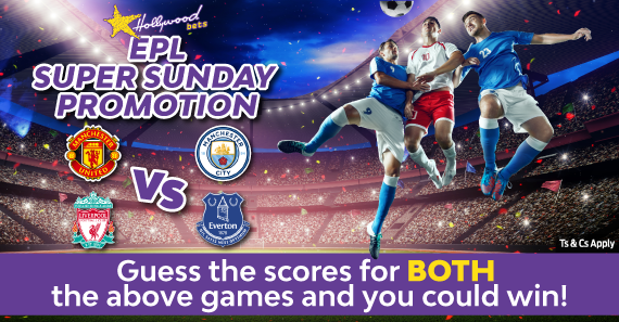 Win BIG with Hollywoodbets this weekend in our Super Sunday Facebook promotion.