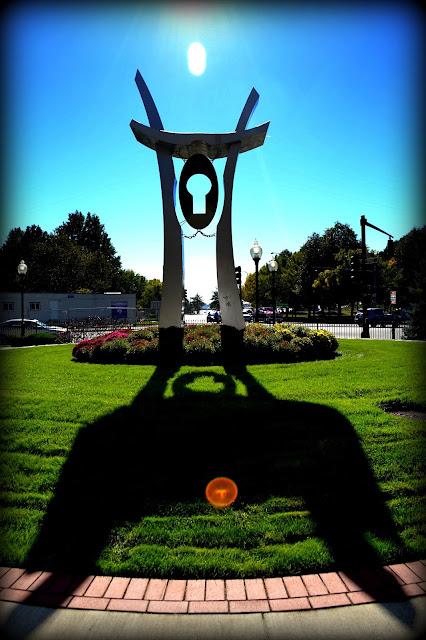 Stainless Steel, Sculpture, Lynn, Massachusetts, shadow