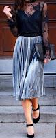 pleated skirt grey