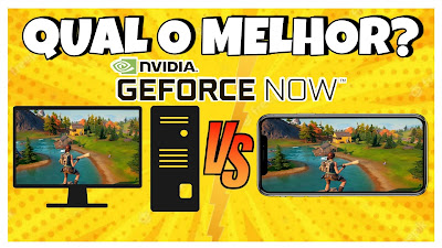 GEFORCE NOW - CELULAR vs PC - SERVIDOR LATAM BETA no BRASIL