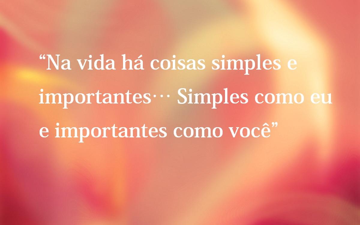 Belas Frases De Amor Na Vida Há Coisas Simples E Importantes