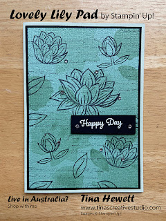 Mint Macaron Lovely Lily Pad card - www.tinascreativestudio.com