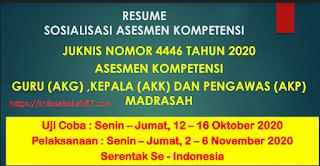 Cara Mudah Daftar Asesmen Kompetensi Guru (AKG), Kepala (AKK) dan Pengawas (AKP) Madrasah Sesuai Juknis Nomor 4446 Tahun 2020