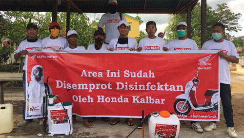 HONDA KALBAR Participates in Spraying Disinfectants