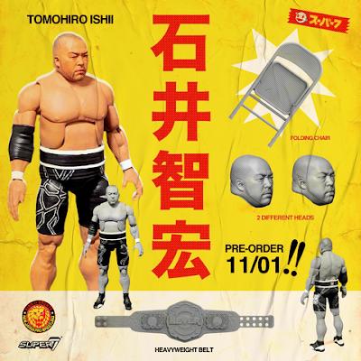 New Japan Pro Wrestling Ultimate Action Figures Series 1 by Super7 – Kazuchika Okada, Hiroshi Tanahashi, Will Ospreay & Tomohiro Ishii