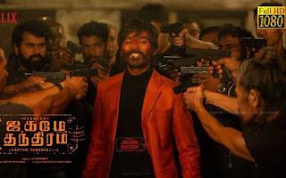 Jagame Thandhiram Full movie download leaked on Movierulz, tamilrockers,filmzilla website.