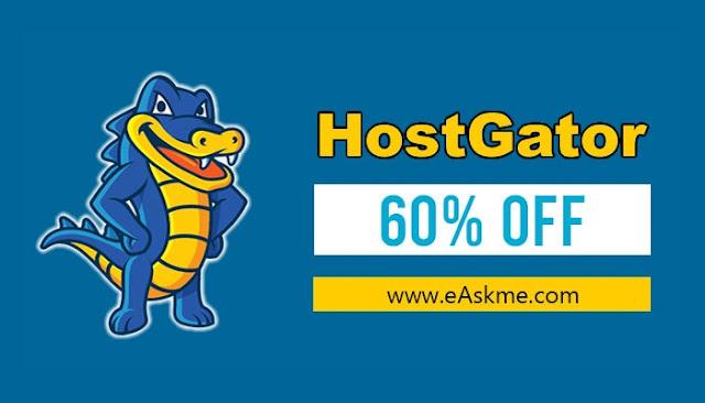 65% off HostGator Hosting + Free Domain Maximum Discount April 2021: eAskme
