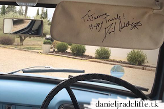 Ford Anglia signed by Harry Potter stars including Daniel Radcliffe