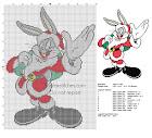 gratis Bugs Bunny Navidad punto de cruz