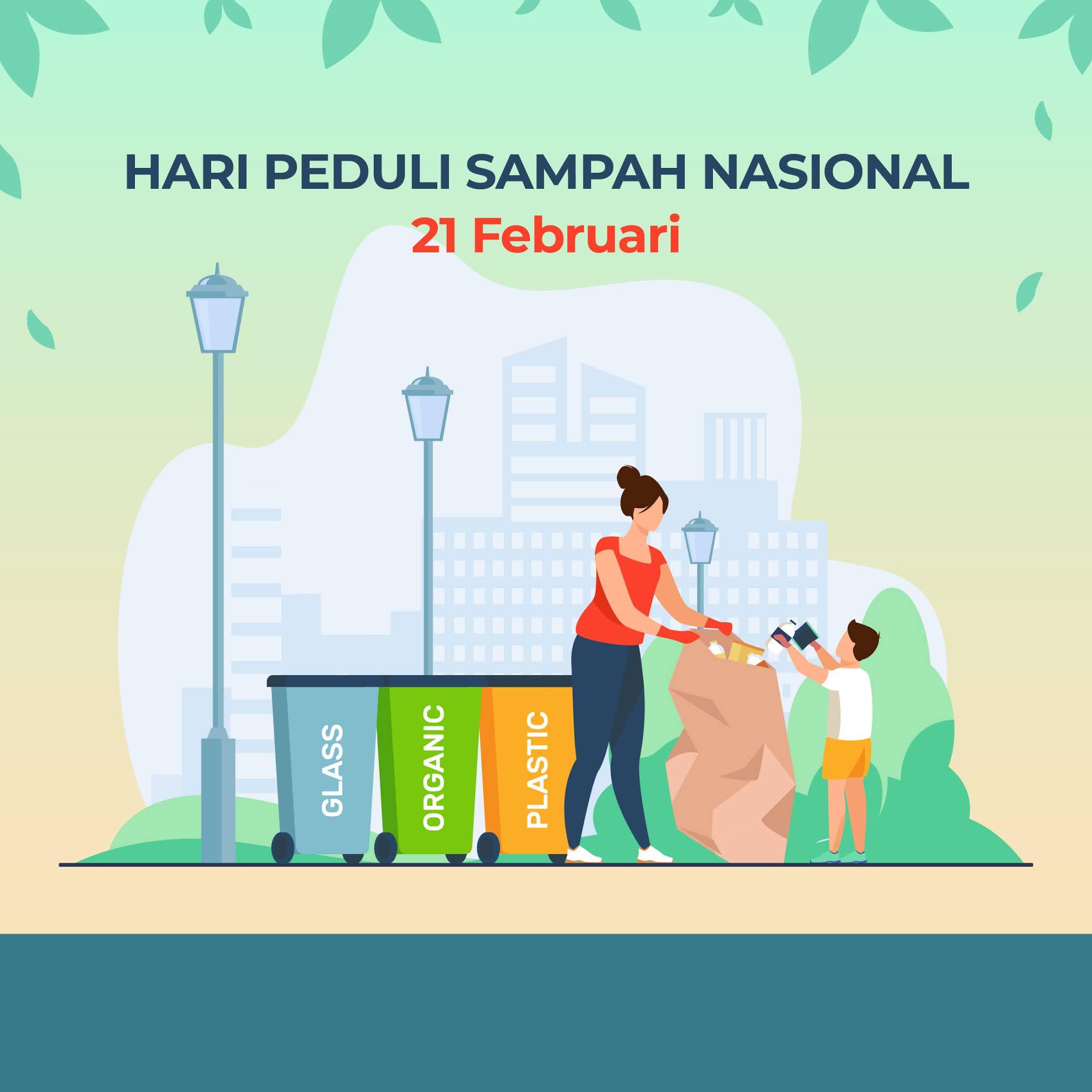 Kumpulan Gambar Desain Template Hari Peduli Sampah Nasional 2021
