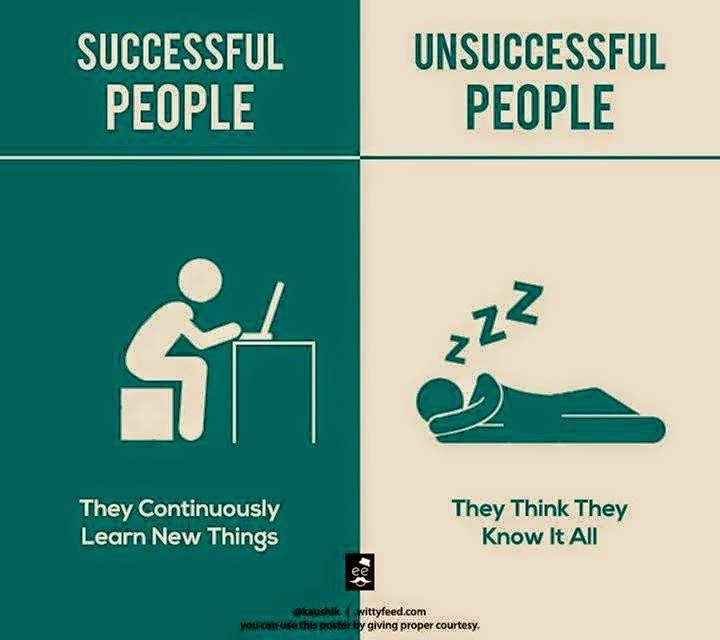 3 Successful People Continuously Learns & Unsuccessful People Sleeps & Think They Know It