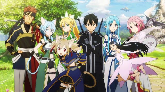 Kirito, Asuna i przyjaciele z anime Sword Art Online