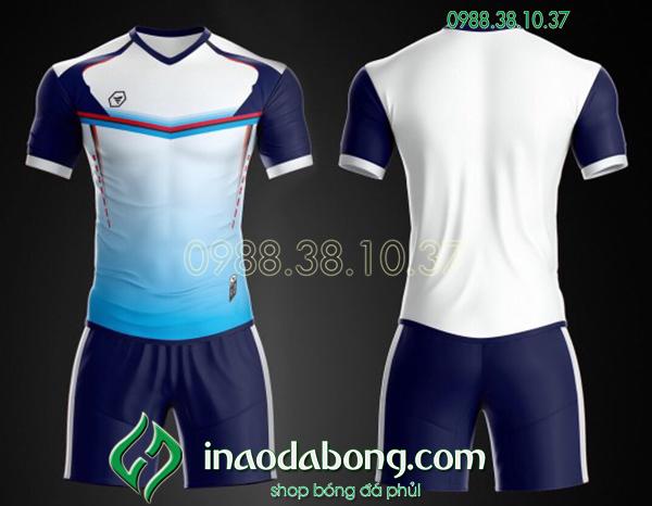 Áo bóng đá ko logo TA Ste màu trắng
