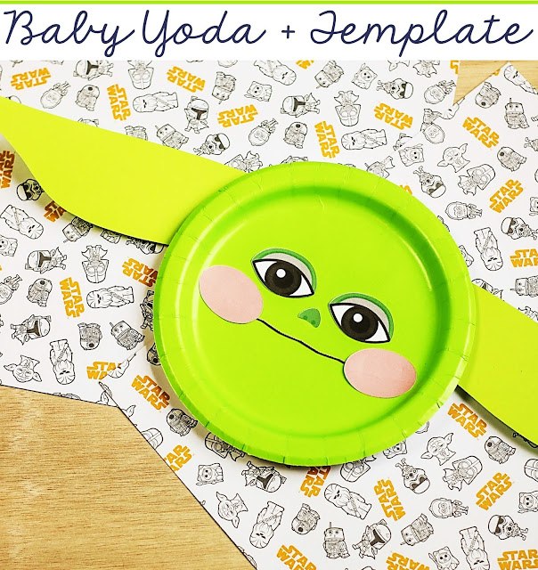What a fun craft to do with the kids! Baby Yoda Paper Craft! Kids as young as 3 will enjoy this super cute paper craft to make the famous baby alien everyone has come to  adore.