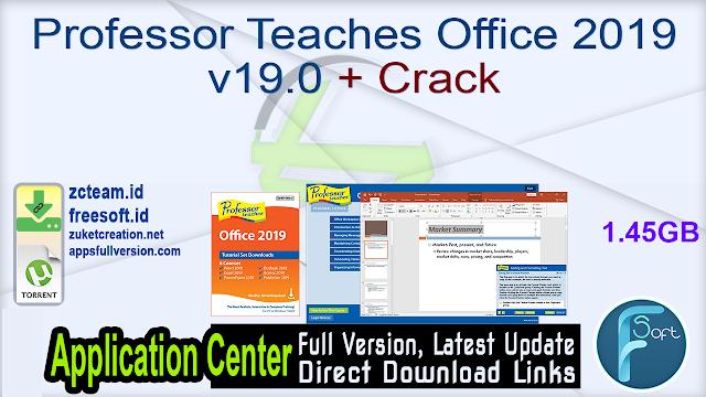 Professor Teaches Office 2019 v19.0 + Crack_ ZcTeam.id