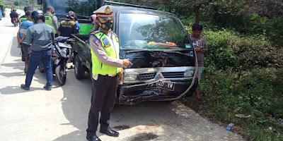 Kecelakaan Karambol Enam Kendaraan Sekaligus di Karangreja Purbalingga