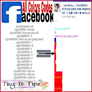 Facebook Color Code for Colorful Post
