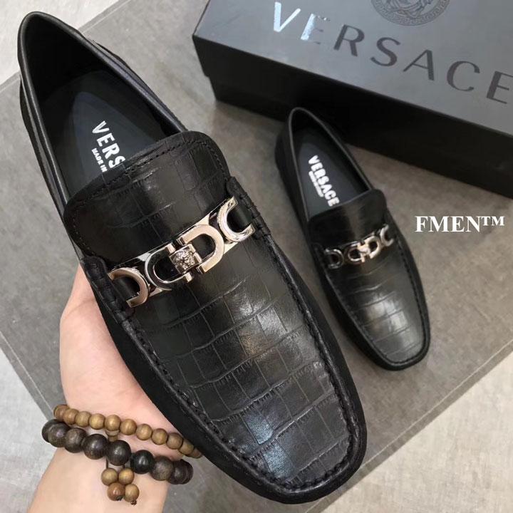 Giày lười nam Versace đế cao siêu cấp like auth GNVS-8782