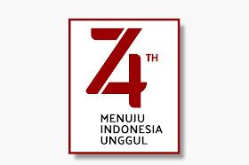 Logo HUT RI ke-74 Resmi Format CorelDRAW dan PNG HD