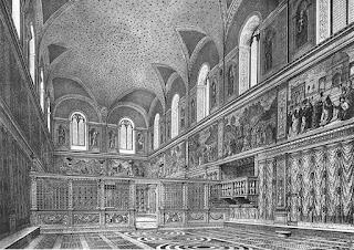 Representação Capela Sistina antes do teto ser afrescado por Michelangelo