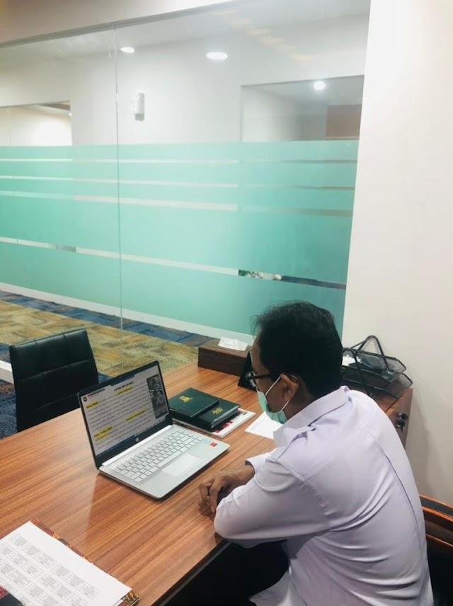Sekda Aceh Ikuti Sosialisasi Percepatan Pelaksanaan APBA 2021