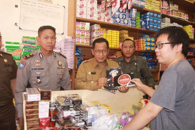 Berantas Rokok Ilegal, Wakil Walikota Mojokerto Sidak sejumlah Pasar