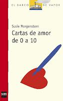"""Portada del libro """"Cartas de amor de 0 a 10"""", de Susie Morgenstern"""