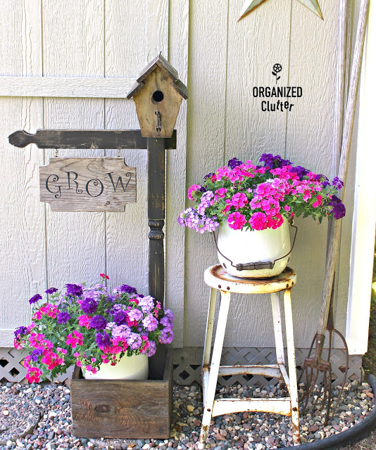Cutesy Country Birdhouse Planter/Sign Gets a Rustic Makeover