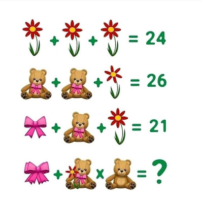 Flower Teddy Bear Ribbon Puzzle