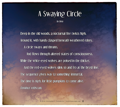 A Swaying Circle Copyright 2018 Christopher V. DeRobertis. All rights reserved. insilentpassage.com