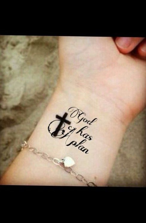 crosses with banner tattoos