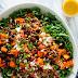 Hearty Sweet Potato, Arugula & Wild Rice Salad with Ginger Dressing