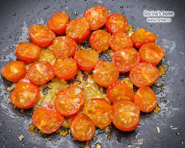 Обжаренные помидоры черри