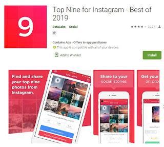 Cara Buat Best Nine Instagram 2019 Aplikasi Best Nine Instagram 2019