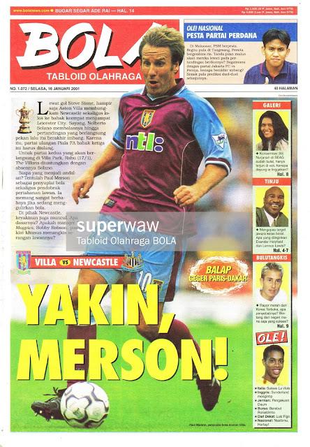 PAUL MERSON ASTON VILLA FOOTBALL PLAYER